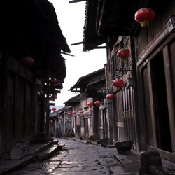 A picture of Daxu ancient town by Guilin
