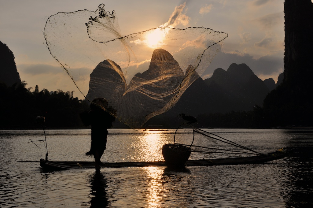 Picture of Cormorant Fisherman on the Li River Guilin