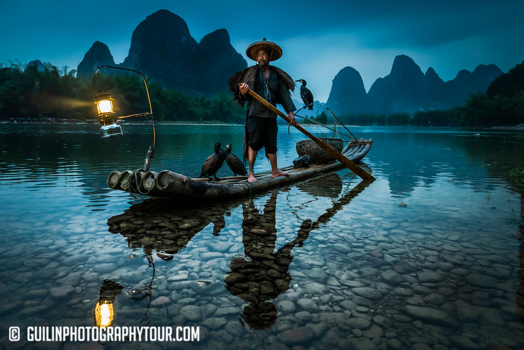 Guilin Cormorant Fisherman on the Li River